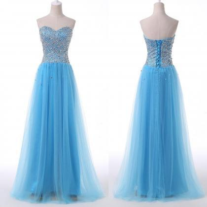 Beaded Prom Dresses,Sweetheart Prom..