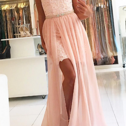 Sweetheart Prom Dresses,Lace Prom D..