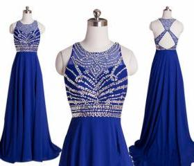 Royal Blue Beaded Pr..