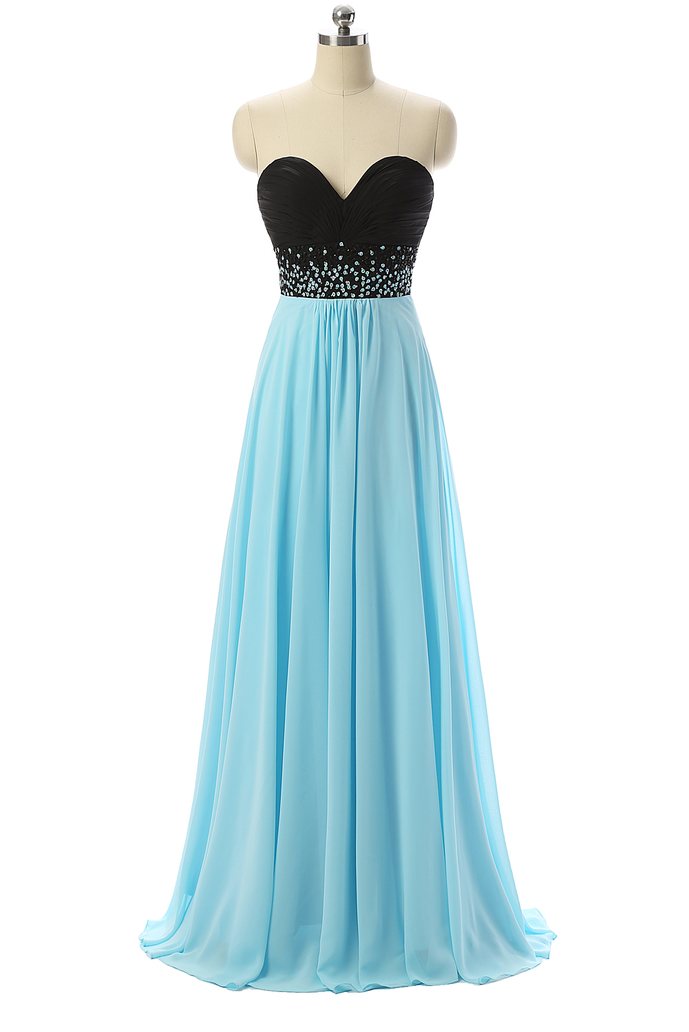Black And Blue Prom Dresses,Sweetheart Prom Dresses,Formal Evening ...