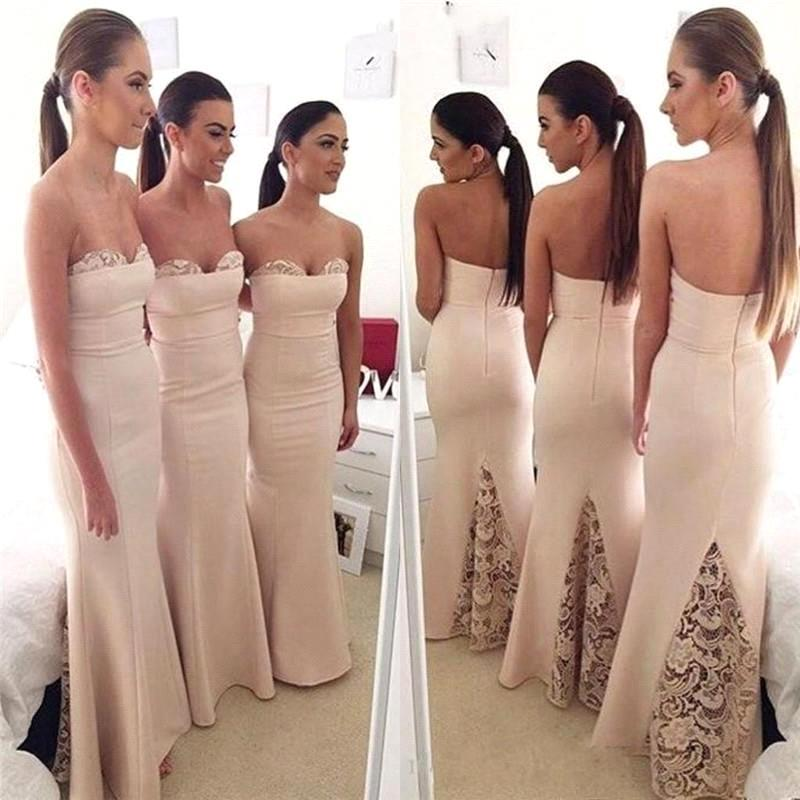 27f651c125 Blush Pink Bridesmaid Dresses,Mermaid Bridesmaid Dress,Strapless Maid Of  Honor Dress,Wedding