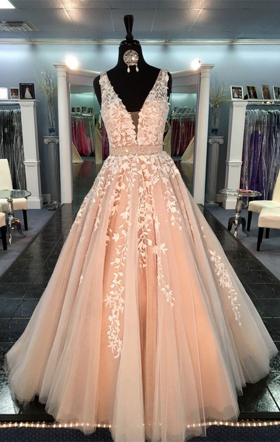 Champagne Prom Dresses,Lace Prom Dress 2018,Special Occasion Dress,Formal Women Party Dress,A Line Evening Gowns