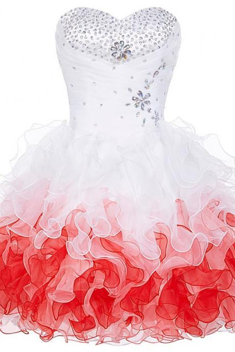 Sweetheart Homecoming Dresses,Beaded Homecoming Dress,Short Prom Dresses 2018