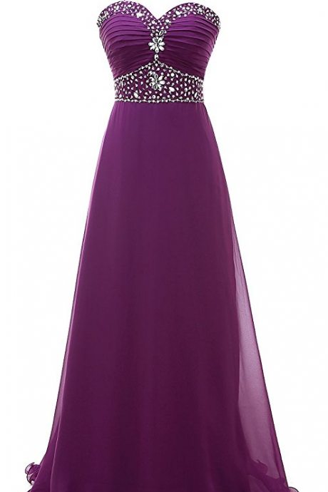 Purple Bridesmaid Dresses Beaded Dress Sweetheart Maid Of Honor 2018