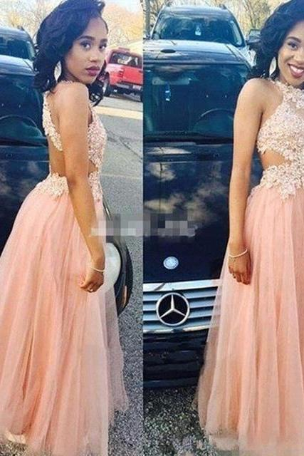 Blush Pink African Prom Dresses Long 2018 Formal Evening Gowns For Women