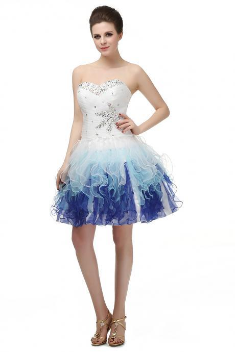 Sweetheart Homecoming Dresses,Beading Prom Dress,Cocktail Dress,Party Gowns