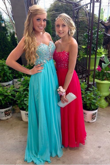 Pretty Sweetheart Prom Dress, Beading Sleeveless Prom Dress 2018,Formal Evening Gowns,Party Dress
