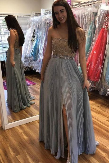 Custom Made Beading A-line Sweetheart Prom Dress,Evening Dresses 2018,Formal Gowns,Banquet Dress,Party Gowns