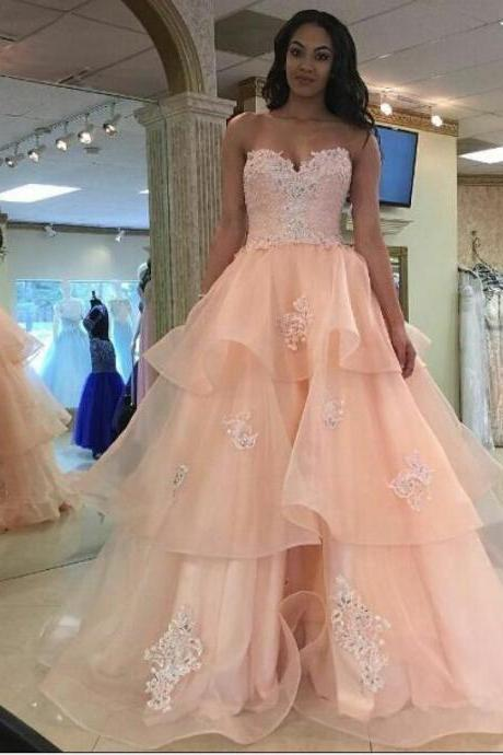 Sweetheart Prom Dresses,A Line Prom Dress,Evening Gowns 2018,Women Formal Dress