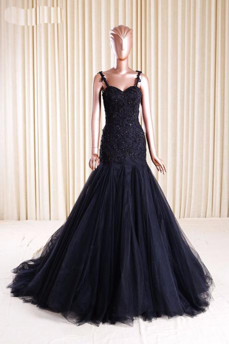 Black Prom Dresses,Prom Dress 2018,A Line Evening Gowns,Women Formal Party Dress