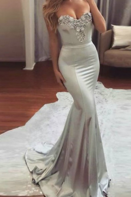 Sweetheart Prom Dresses,Mermaid Prom Dress,Floor Length Evening Gowns,Women Formal Dress,Prom Dress 2018