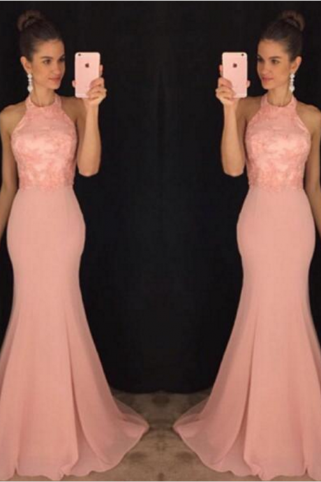 Blush Pink Prom Dresses,Mermaid Prom Dress,Prom Dress 2018,Evening Gowns,Formal Dress,Special Occasion Dresses