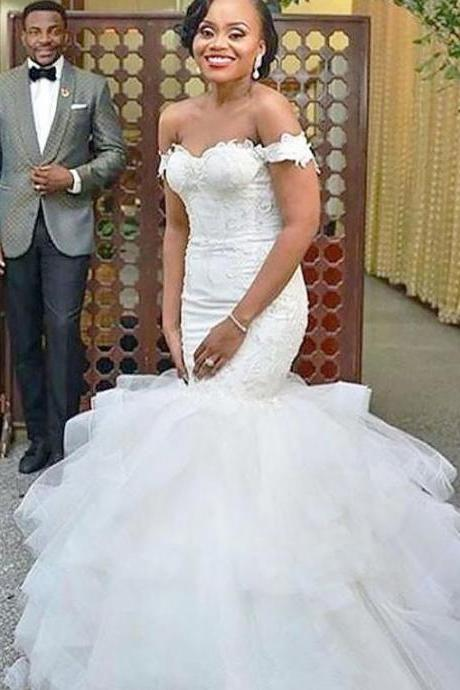 African Wedding Dresses,Mermaid Wedding Dress,Handmade Bridal Gowns,Wedding Dress 2019