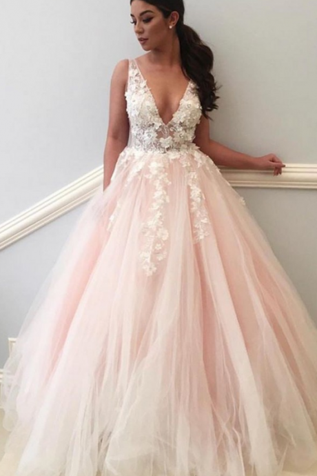 Sexy V Neck Prom Dress,A Line Prom Dress,Evening Gowns,Formal Dress,Pageant Dress,Ever Pretty,Prom Dresses 2019