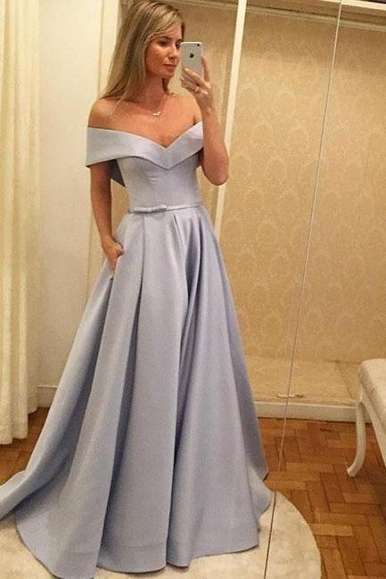 Off The Shoulder Prom Dress,A Line Prom Dress,Evening Gowns,Formal Dress,Pageant Dress,Prom Dress 2019