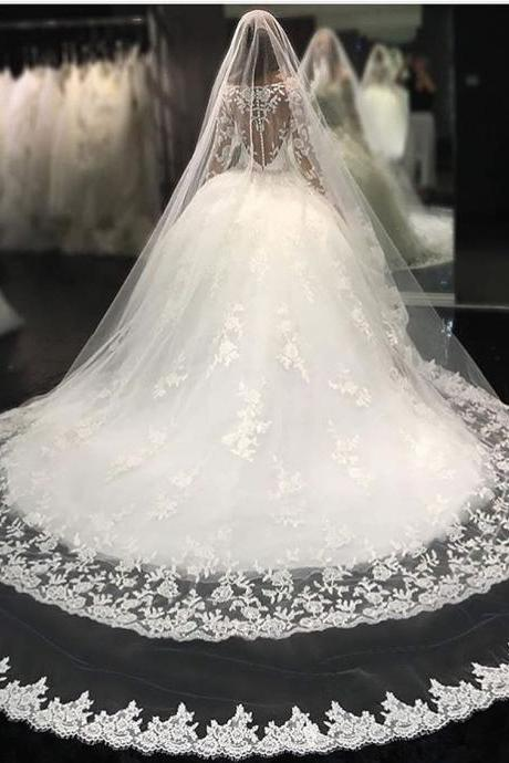 Ball Gown Wedding Dress,Long Sleeve Wedding Dress,Lace Bridal Gowns,vestido de noiva,Wedding Dress 2019,robe de mariee