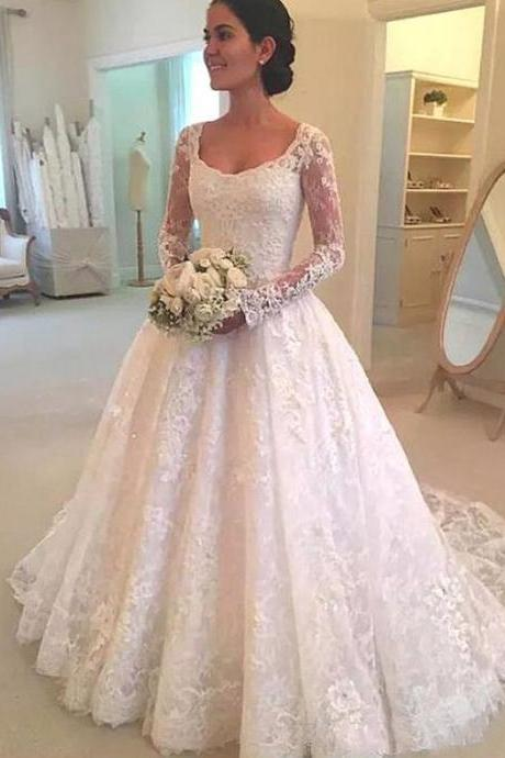 Vintage Lace Wedding Dresses,Lace Wedding Dress,Handmade Bridal Gowns,Bridal Dress 2019