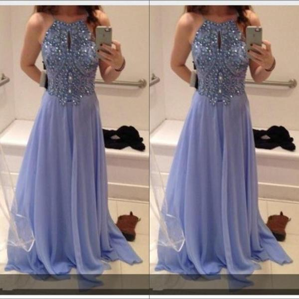 Bling Bling Prom Dresses,Beaded Crystal Prom Dress,Evening Gowns,Formal Dress,Graduation Dress,A Line Prom Dress 2019