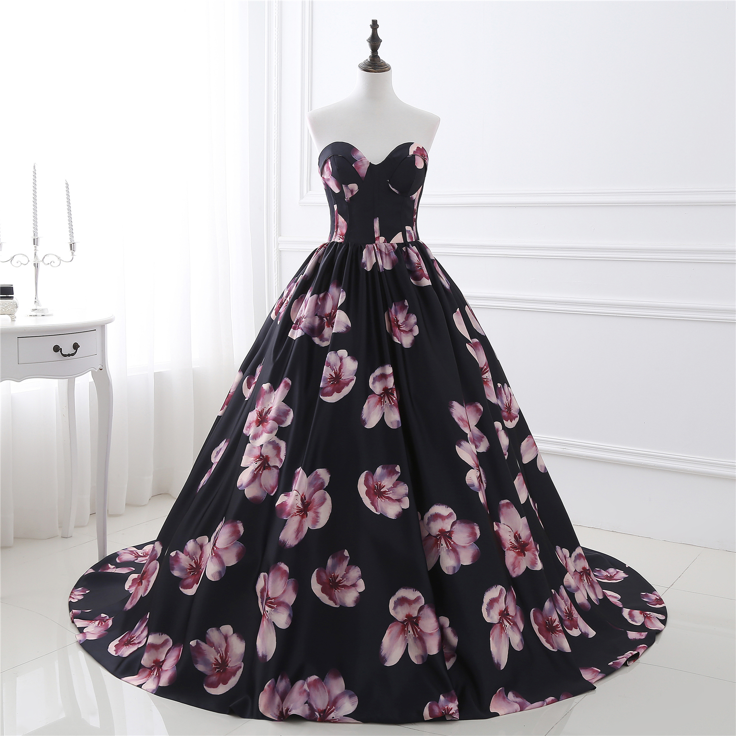 Floral Prom Dresses,Sweetheart Evening Dress,Formal Gowns,Banquet ...